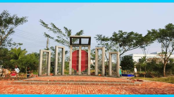 দীর্ঘ ৯ বছর পরে কংক্রিটের শহীদ মিনার পেলো বশেমুরবিপ্রবি